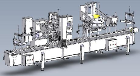 Control GMC FDS2500 Filling Line for olives and pickles in brine