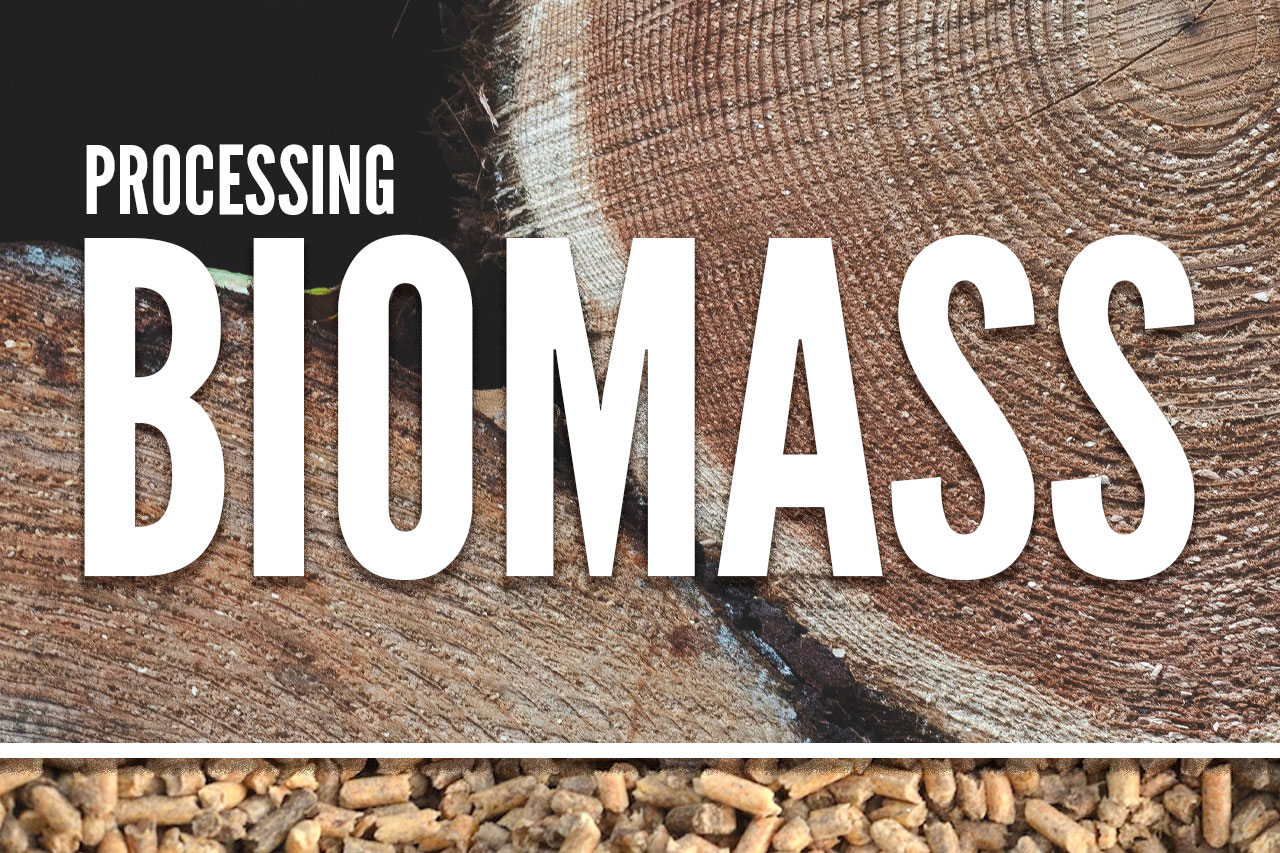 wood pellet processing